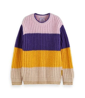 Scotch & Soda Colour-block crewneck pullover combo C