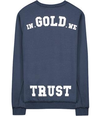 In Gold We Trust KIDS THE REAKWON cn sweater Blueberry