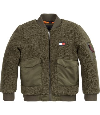 Tommy Hilfiger TEDDY MIXED BOMBER OLIVE TREE