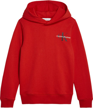 Calvin Klein SMALL MONOGRAM HOODIE Fierce Red