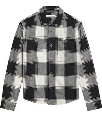 Calvin Klein WINTER CHECK SHIRT CK Black Bright White