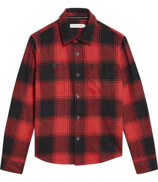 Calvin Klein WINTER CHECK  CK Black Fierce Red