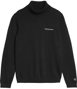 Calvin Klein ROLL NECK SWEATER BLACK