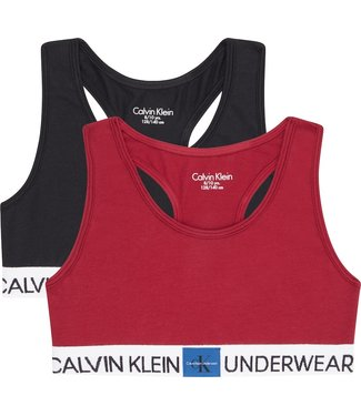 Calvin Klein 2PK BRALETTE 1RHUBARB/1PVHBLACK