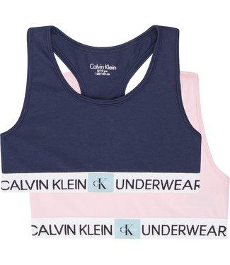 Calvin Klein PK BRALETTE 1UNIQUE/1BLACKIRIS
