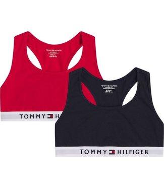 Tommy Hilfiger 2P BRALETTE Primary Red/Desert sky