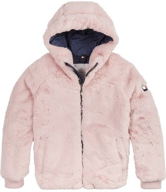 Tommy Hilfiger FAKE FUR JACKET ROMANTIC PINK