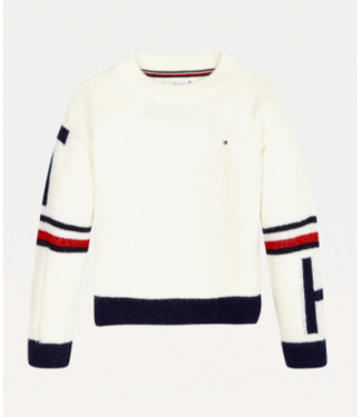 Tommy Hilfiger TOMMY COLLEGIATE SWEAT IVORY PETAL