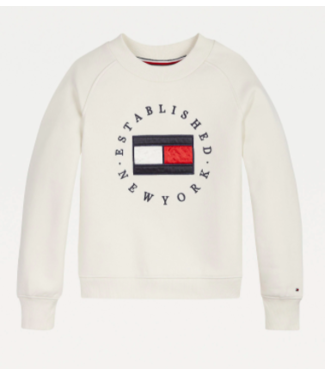 Tommy Hilfiger HERITAGE LOGO CREW SWEAT IVORY PETAL