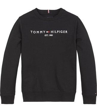Tommy Hilfiger ESSENTIAL CN SWEATSHIRT BLACK