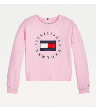 Tommy Hilfiger HERITAGE LOGO TEE L/S ROMANTIC PINK