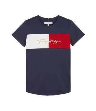 Tommy Hilfiger ICON LOGO TEE S/S NAVY