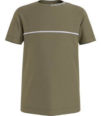 Calvin Klein PIPING TEE OLIVE