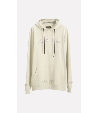 In Gold We Trust Chain Embroidery Hoodie pelican