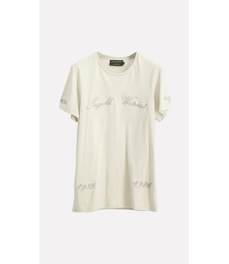 In Gold We Trust Chain Embroidery T-Shirt pelican