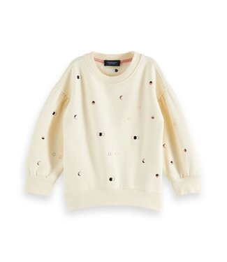 Scotch & Soda Allover cn sweat with balloon sleeve