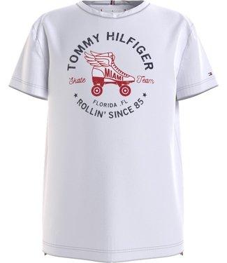 Tommy Hilfiger SKATE TEAM TEE WHITE