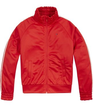 Tommy Hilfiger TAPE TRACKSUIT TOP RED