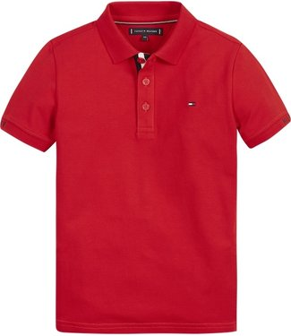 Tommy Hilfiger SLIM FIT POLO RED