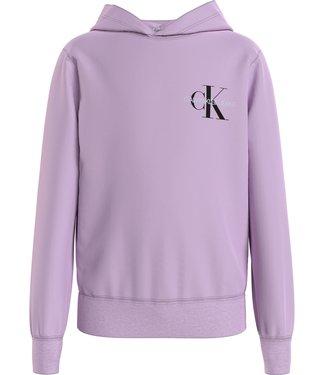 Calvin Klein MONOGRAM HOODIE LAVENDER