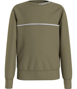 Calvin Klein PIPING SWEATER OLIVE