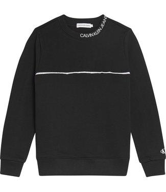 Calvin Klein PIPING SWEATER BLACK