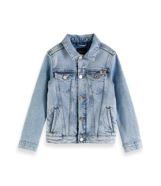 Scotch & Soda AB trucker jacket Crystal Clear