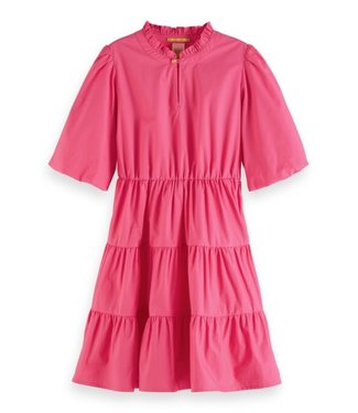 Scotch & Soda Crispy cotton a-line dress pink
