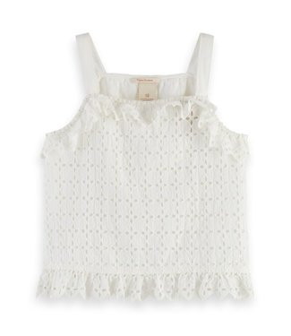 Scotch & Soda Brodery top offwhite