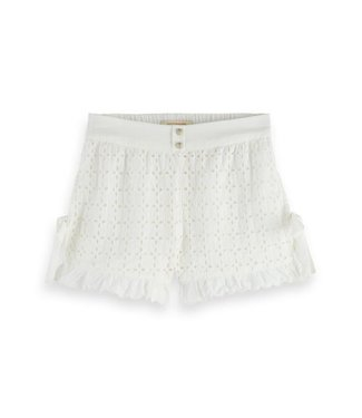 Scotch & Soda Brodery anglaise shorts offwhite