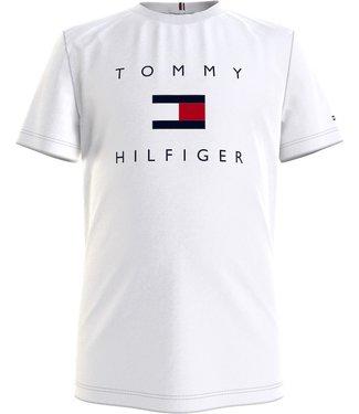 Tommy Hilfiger HILFIGER LOGO TEE WHITE