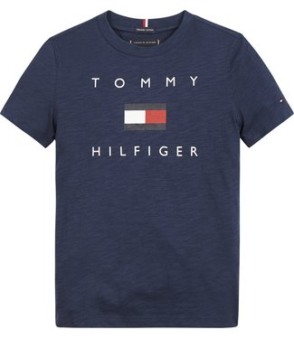 Tommy Hilfiger HILFIGER LOGO TEE NAVY