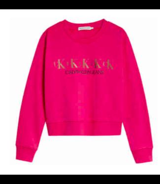 Calvin Klein CK REPEAT SWEATER MAGENTA