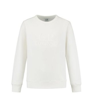 CP Company SWEATER GAUZE WHITE
