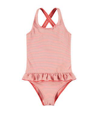 LOOXS LITTLE Little swimsuit red stripe