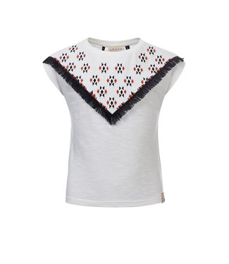 LOOXS 10SIXTEEN T-shirt with embroidery WHITE LILLY