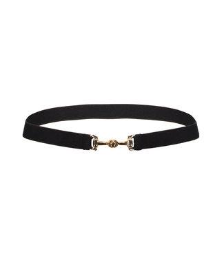 Frankie & Liberty Belt Black-Gold Bit Buckle