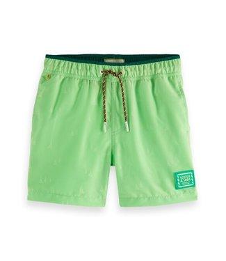 Scotch & Soda Magic print swim shorts lemonade