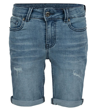 Indian Blue Jeans BLUE ANDY SHORT REPAIRED