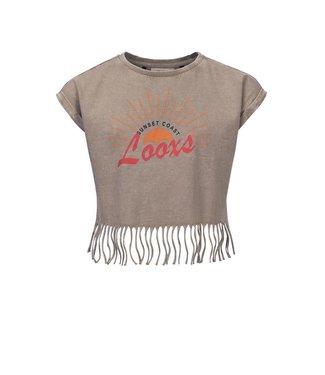 LOOXS 10SIXTEEN Acid wash T-shirt CREAM