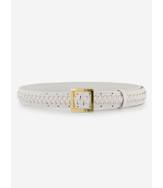 Nik & Nik Kato Braided Belt vintage white