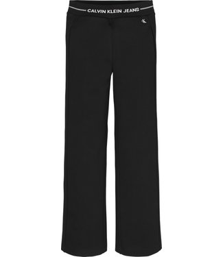 Calvin Klein INTARSIA WAISTBAND PANTS BLACK