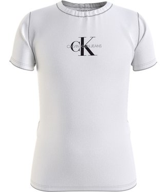 Calvin Klein MICRO MG RIB TSHIRT WHITE