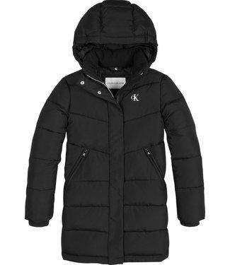 Calvin Klein RELAXED LONG COAT BLACK