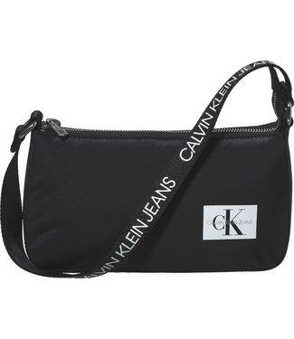 Calvin Klein LOGO STRAP SHOULDERBAG BLACK