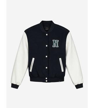 Nik & Nik Esna Baseball Jacket Vintage white