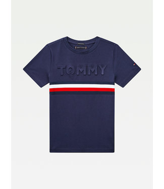 Tommy Hilfiger EMBOSSED TEE S/S  navy