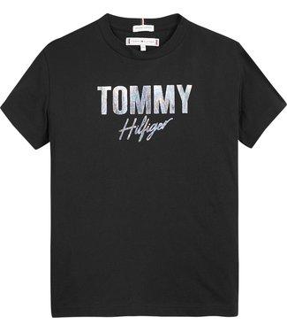 Tommy Hilfiger TOMMY SCRIPT TEE BLACK