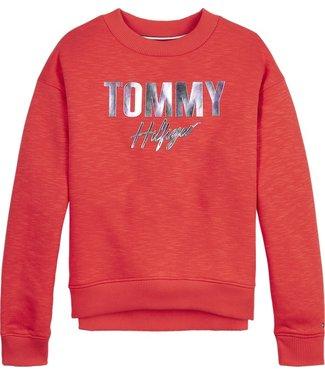 Tommy Hilfiger TOMMY SCRIPT SWEATER DARING SCARLET
