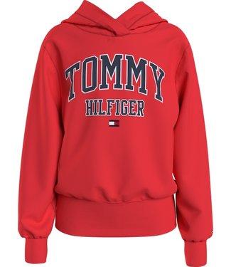 Tommy Hilfiger ESSENTIAL VARSITY HOODIE DARING SCARLET
